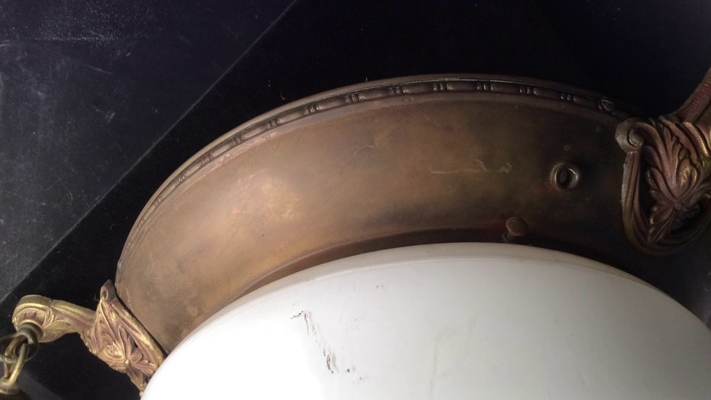 Antique Brass Frame Bells Globe Chandelier - 6
