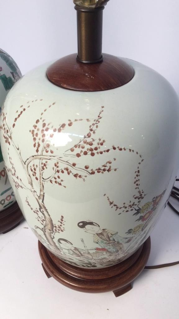 Pair Asian Lamps - 4
