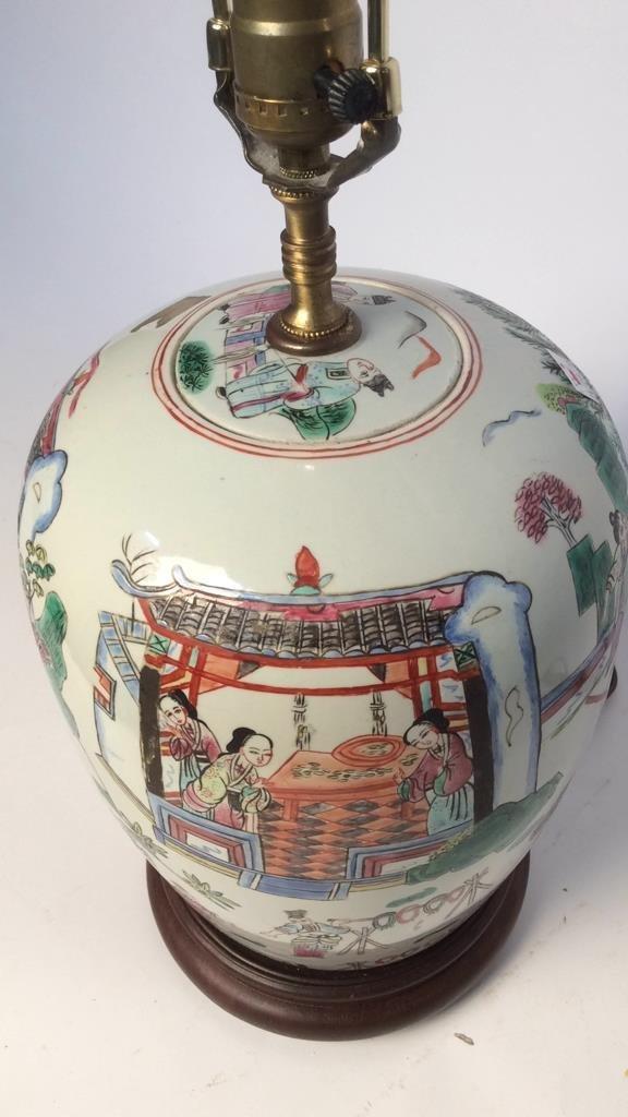 Pair Asian Lamps - 5