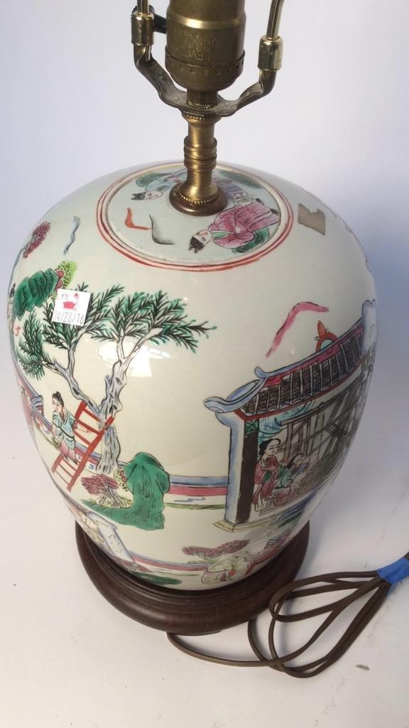 Pair Asian Lamps - 7