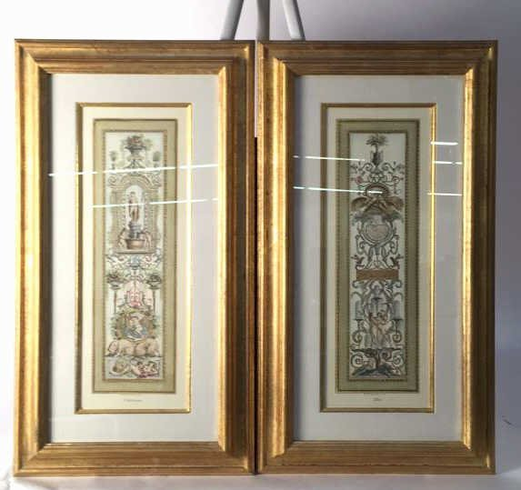 Pair RAPHAEL Four Seasons Classical Prints