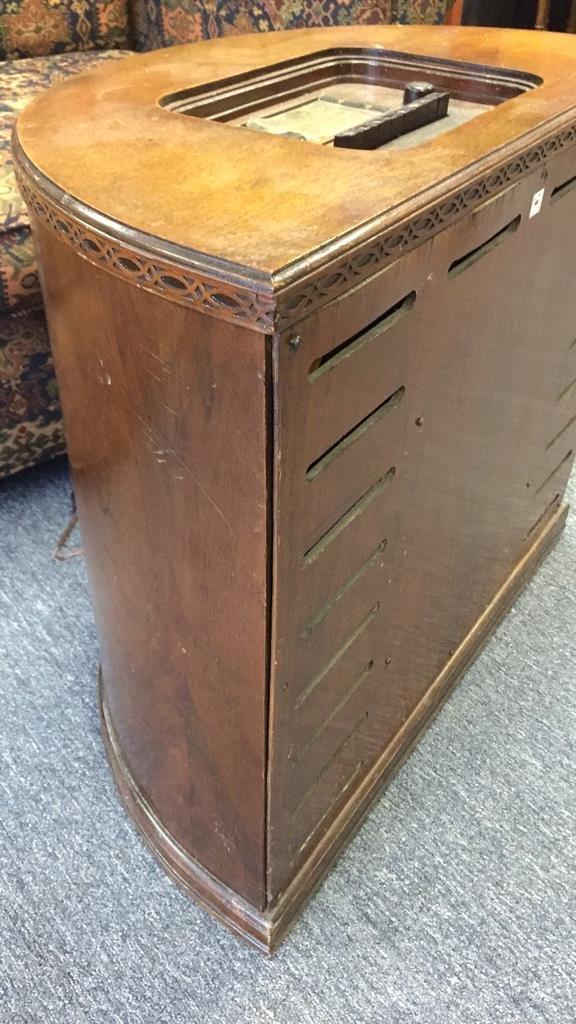 STEWART WARNER Antique Radio Semi Circular Cabinet - 5