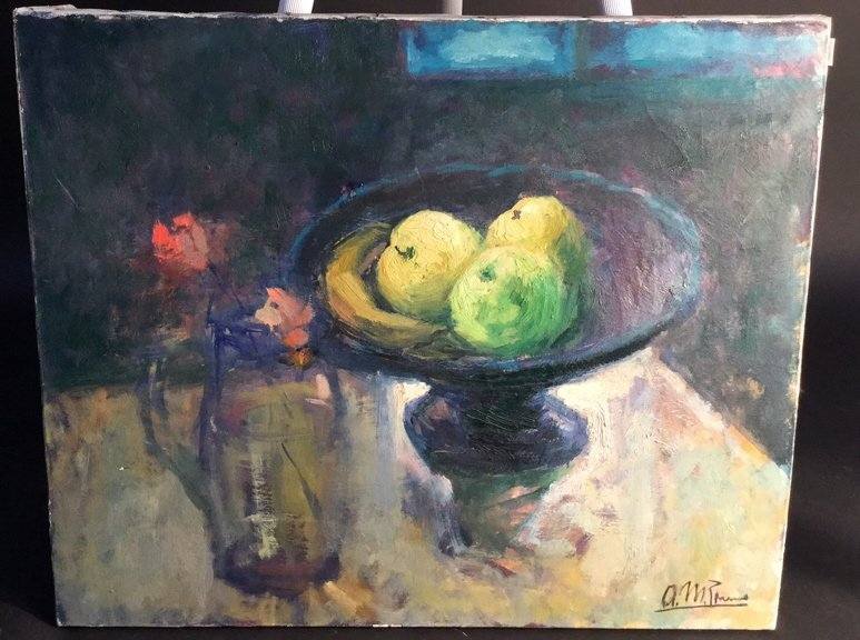 A.M. PANNO Oil on Canvas Still Life
