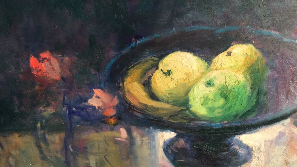 A.M. PANNO Oil on Canvas Still Life - 3