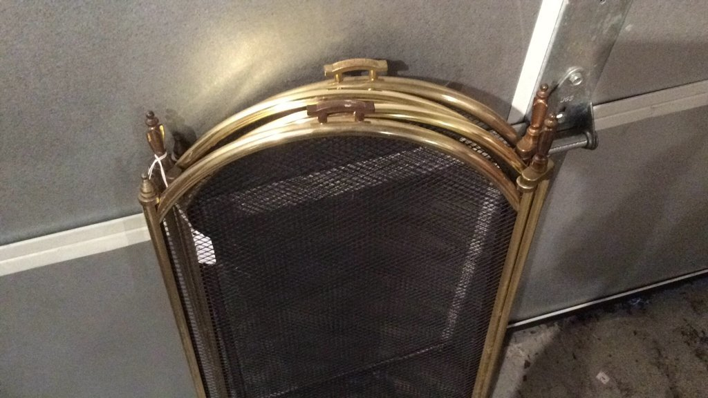 Gold Trimmed & Black Fire Place Screen - 5