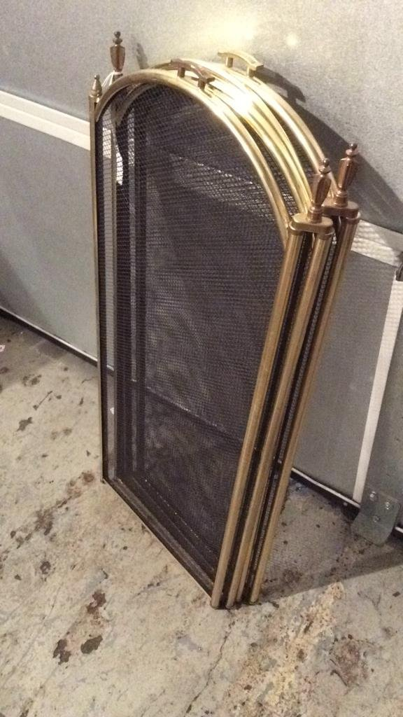 Gold Trimmed & Black Fire Place Screen - 6