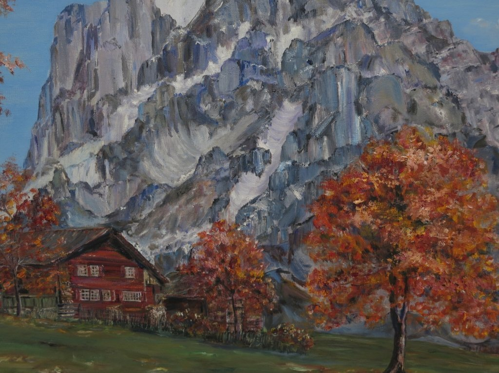 Mountain Landscape Oil on Canvas Unsigned - 3
