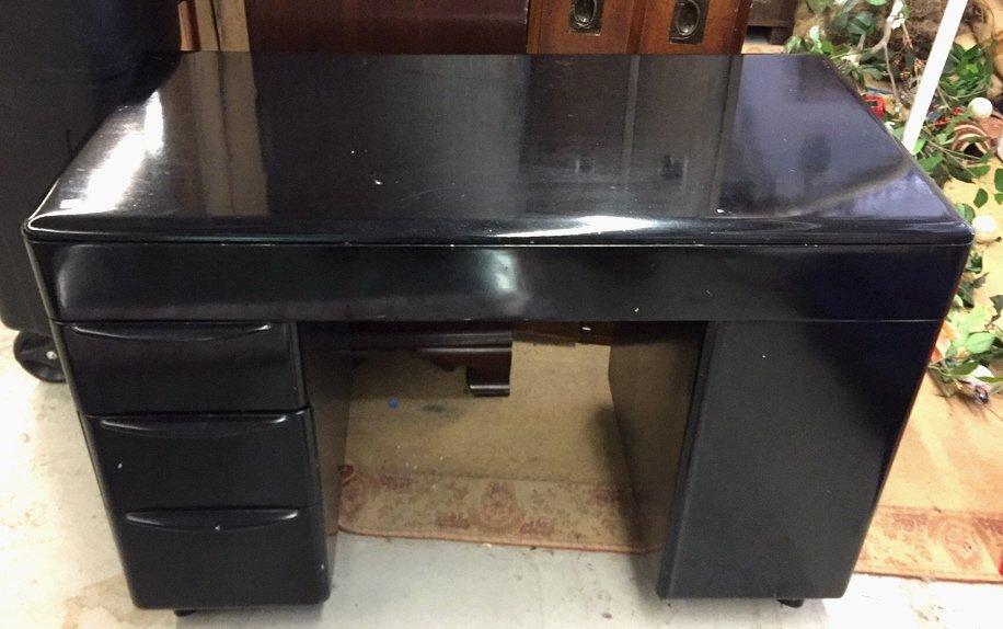 Black Lacquer Mid Century Modern Bedroom Set - 10
