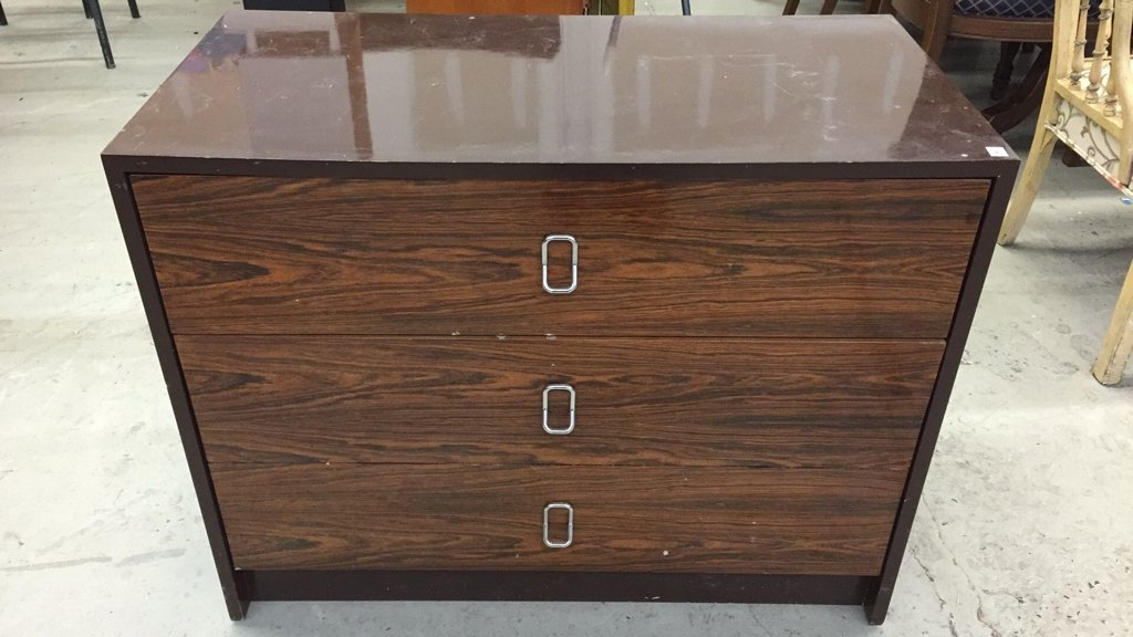 Vintage Storage Cabinet with Two Drawers