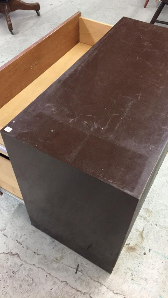 Vintage Storage Cabinet with Two Drawers - 4