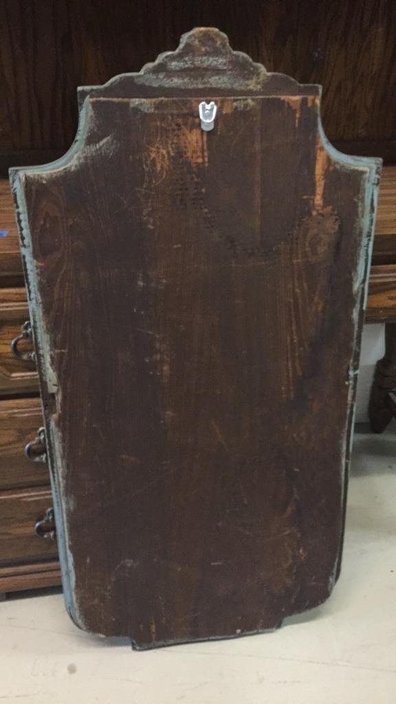 Vintage Carved Decorative Frame Bevelled Mirror - 5