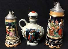 Vintage Beer Mugs And Decanter