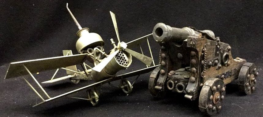 Set of Vintage Toys: one Airplane one Cannon