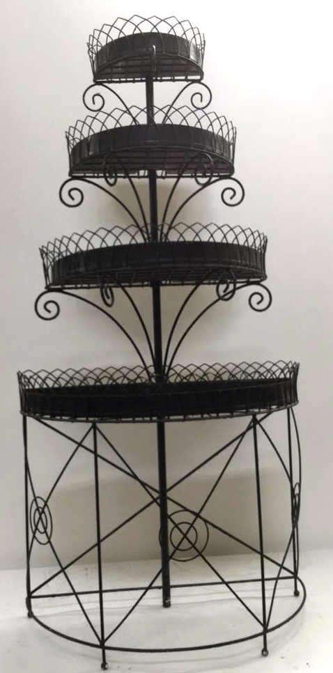 Vintage Wrought Iron Plant Rack