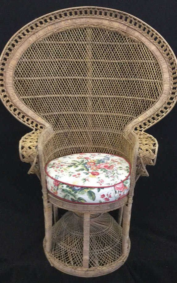 Vintage Whicker Peacock Chair
