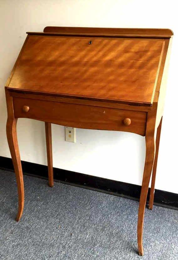Vintage Drop Leaf Maple Secretary