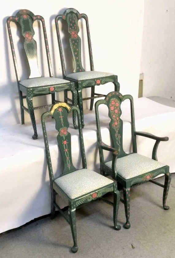 Set Of Four JEANNE VAN ETTEN Decorative Chairs