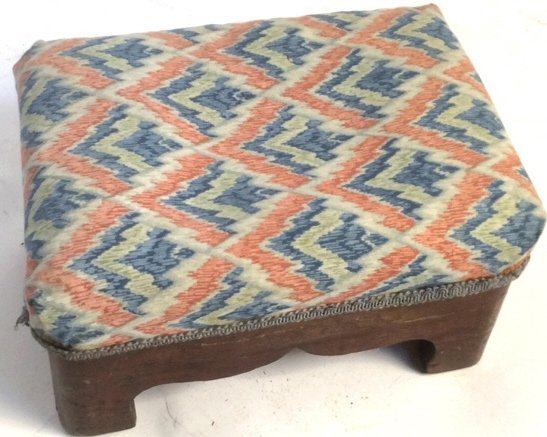 Antique Hand Carved Foot Stool