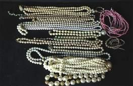 Vintage Pearl Jewlery Group Items