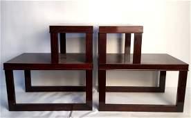 Pair Vintage Wood Side Tables