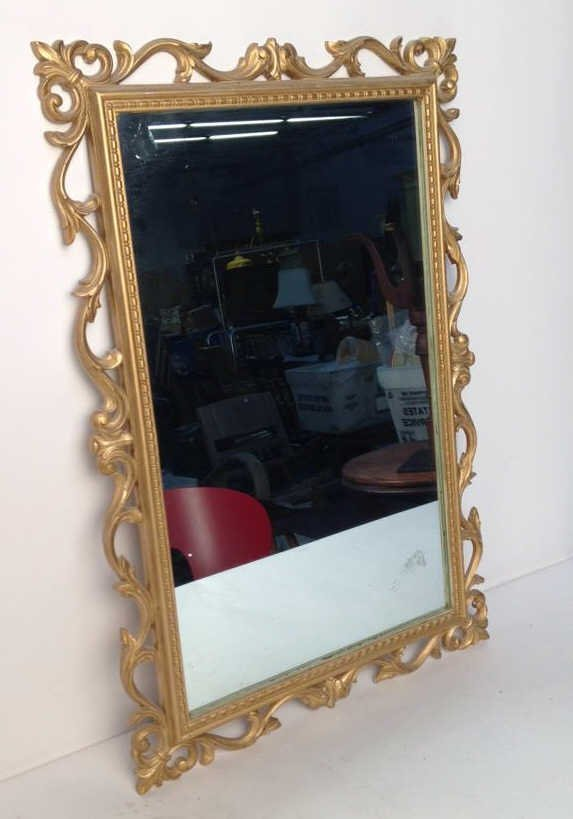 Gold Painted Scrolling Mirror SYROCO INC USA