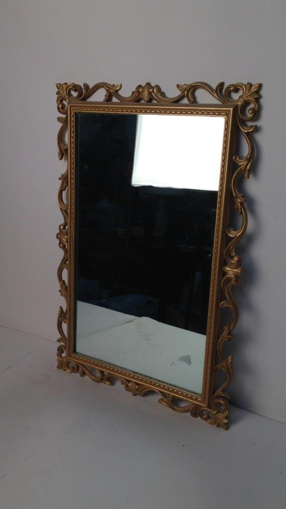 Gold Painted Scrolling Mirror SYROCO INC USA - 2
