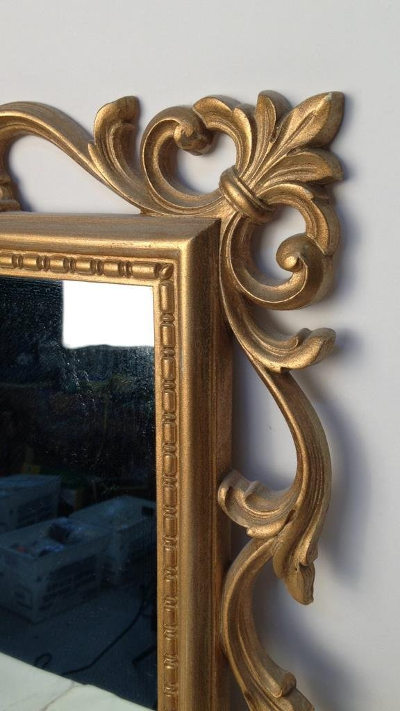 Gold Painted Scrolling Mirror SYROCO INC USA - 3