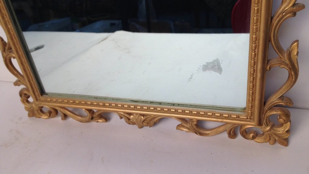 Gold Painted Scrolling Mirror SYROCO INC USA - 4
