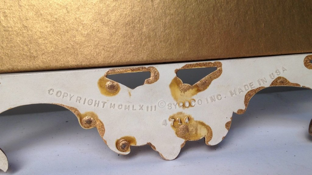 Gold Painted Scrolling Mirror SYROCO INC USA - 7