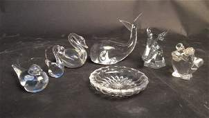 Group Of Signed Crystal Paper Weights
