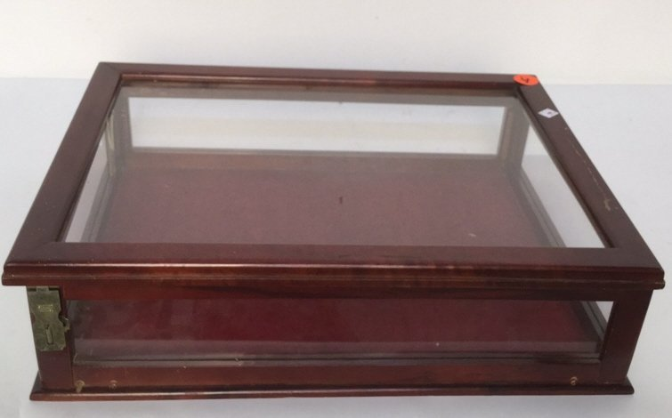 Vintage Wood and Glass Display case.