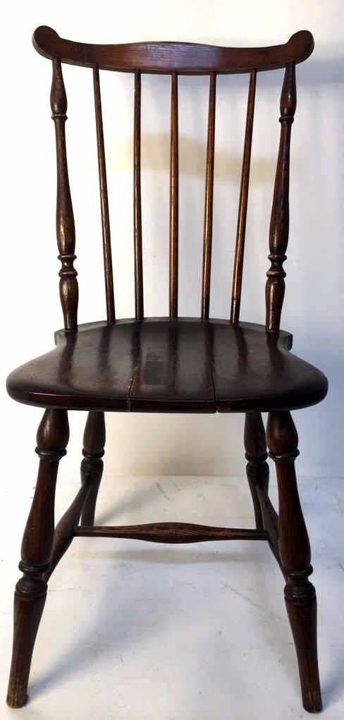 Antique Mahogany Windsor Chair with Ears