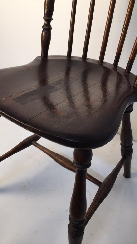 Antique Mahogany Windsor Chair with Ears - 2
