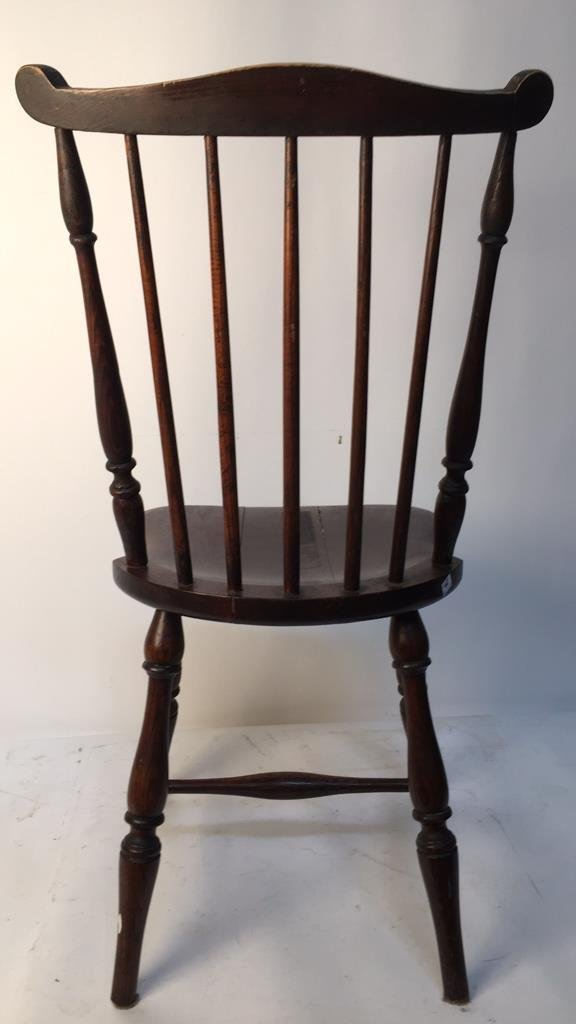 Antique Mahogany Windsor Chair with Ears - 4