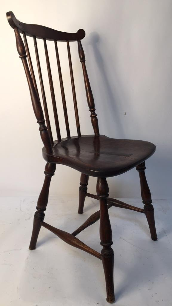 Antique Mahogany Windsor Chair with Ears - 5