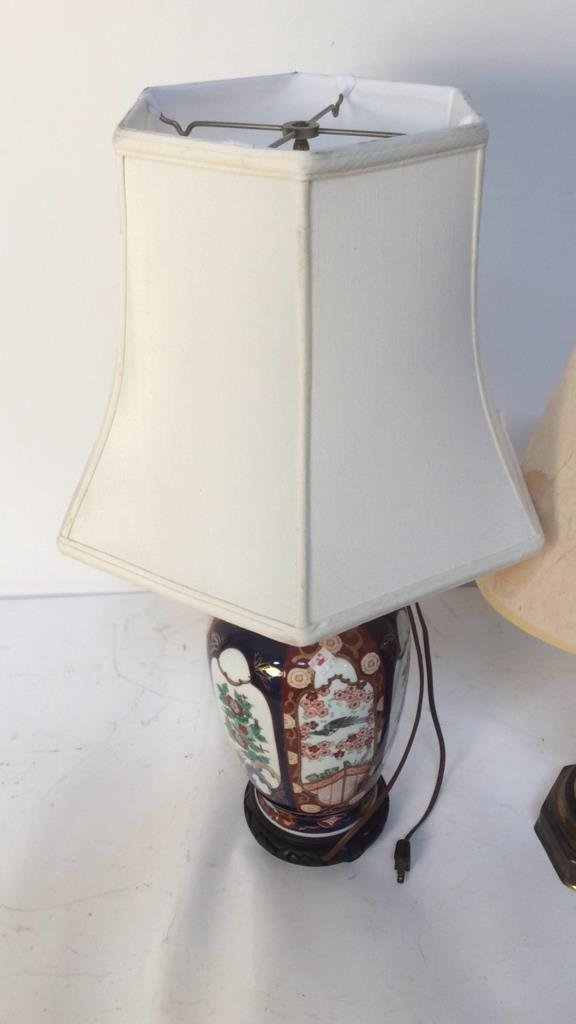 Two Vintage Mid Century Lamps with Unique Shades - 4