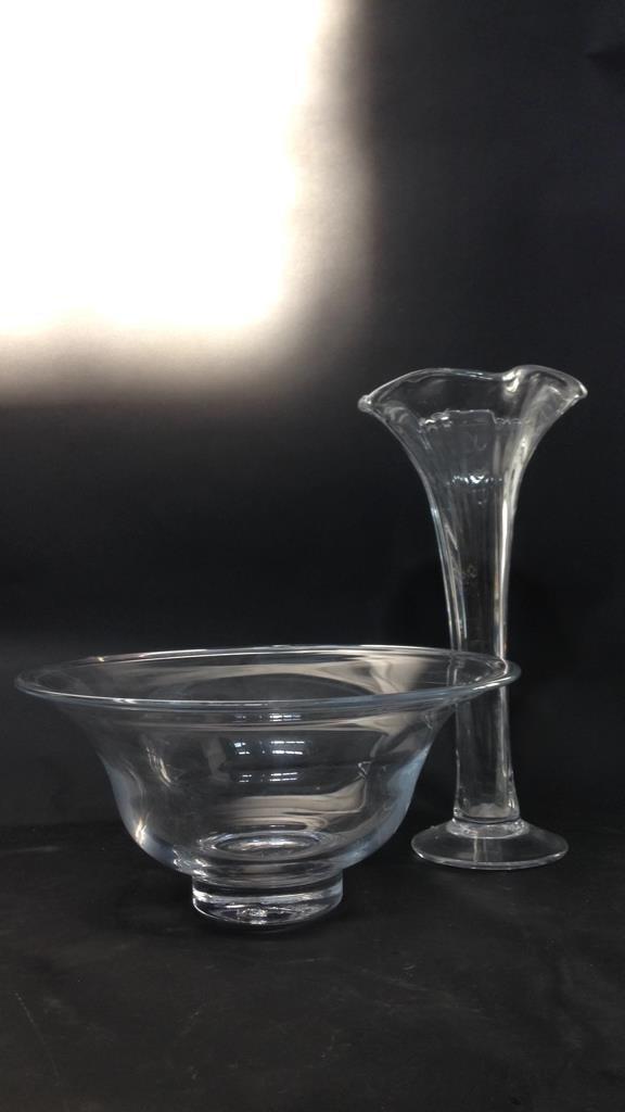 Vintage Glass Bowl & Vase Set - 8