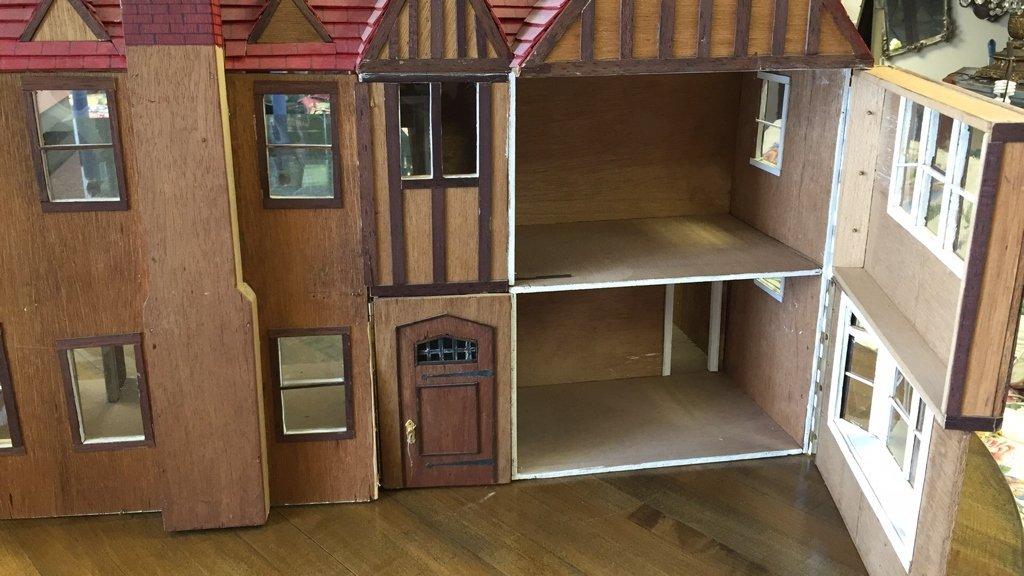 Custom Tudor Style Doll House on Swivel Stand - 2