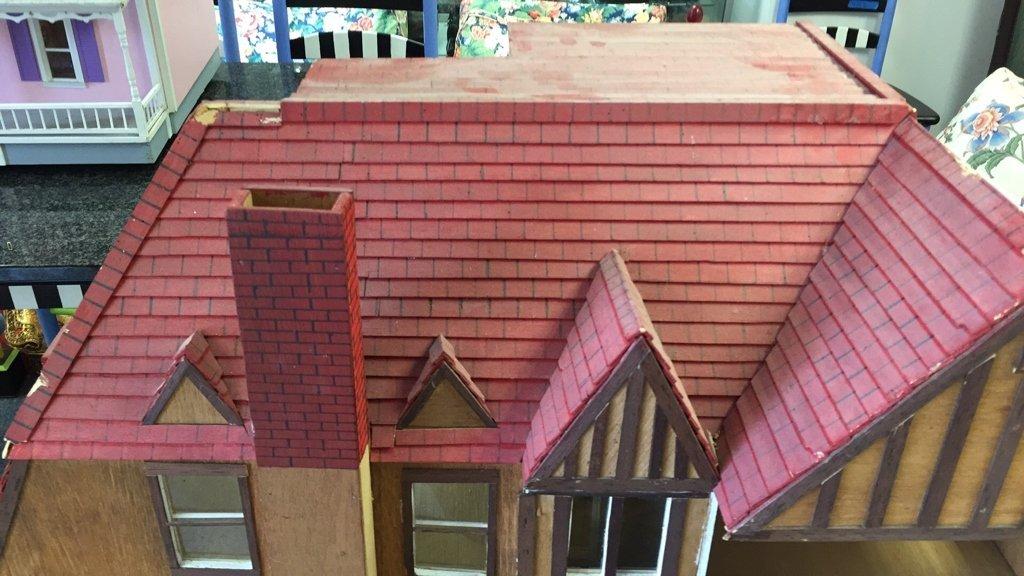 Custom Tudor Style Doll House on Swivel Stand - 3