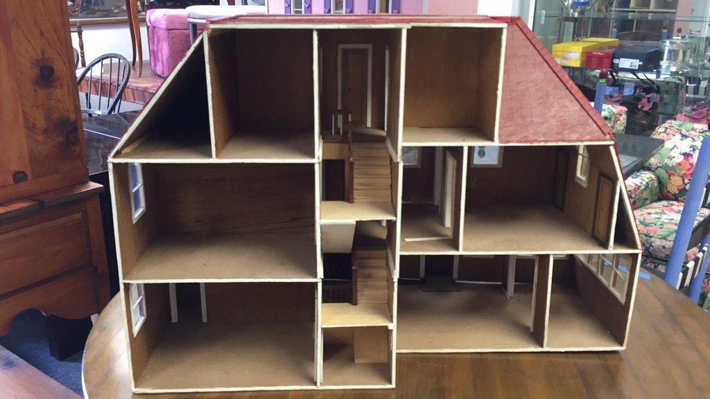 Custom Tudor Style Doll House on Swivel Stand - 6
