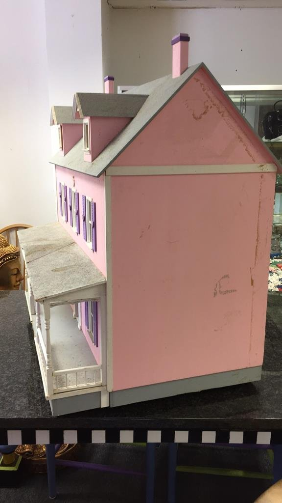Custom Hand Painted Colonial Style Doll House - 10