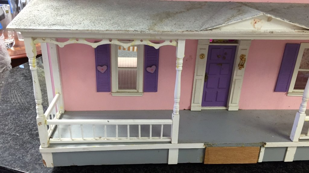 Custom Hand Painted Colonial Style Doll House - 2