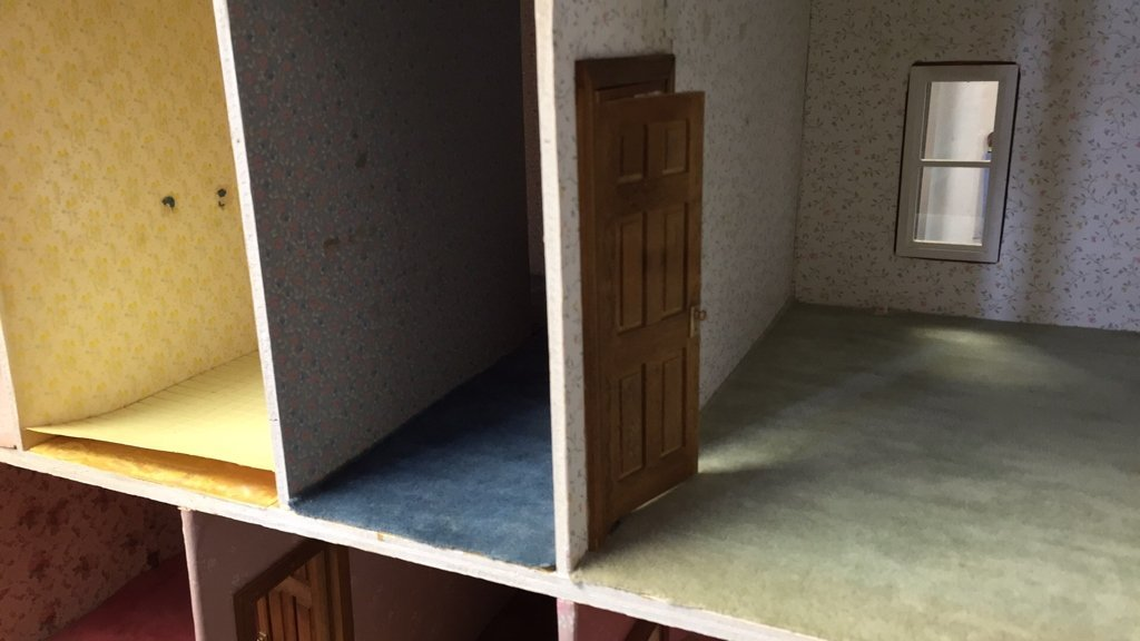 Custom Hand Painted Colonial Style Doll House - 7