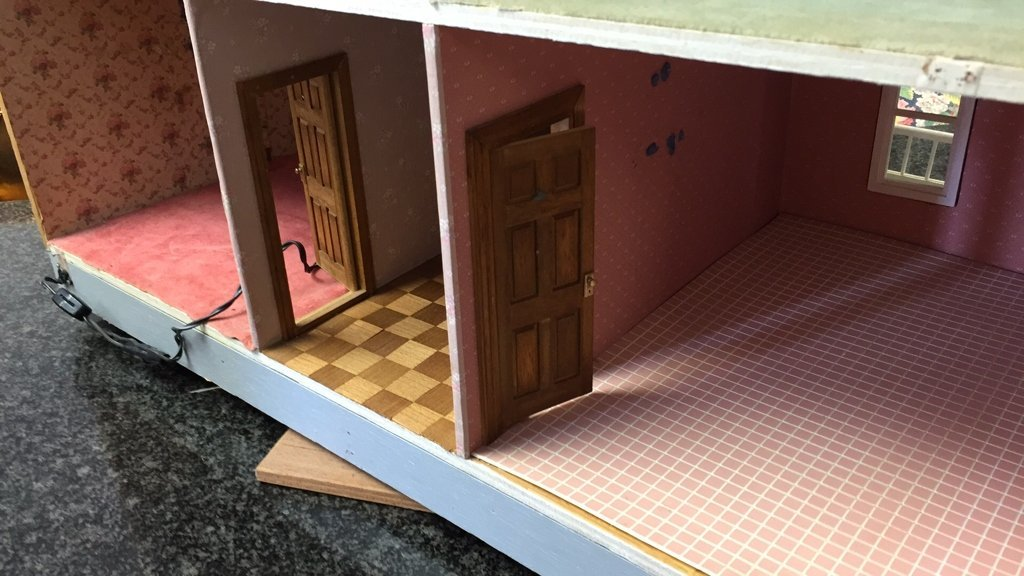 Custom Hand Painted Colonial Style Doll House - 8