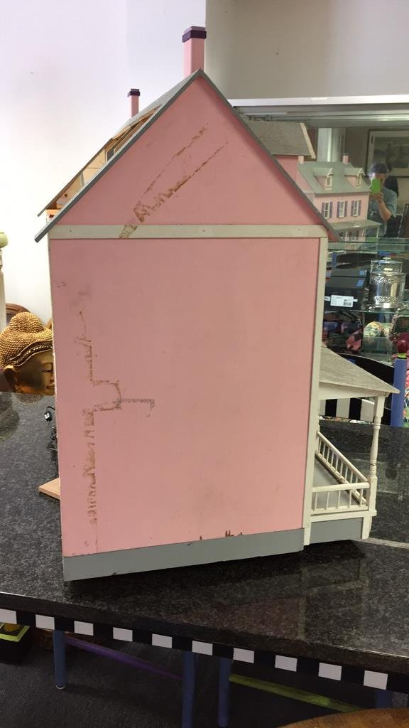 Custom Hand Painted Colonial Style Doll House - 9