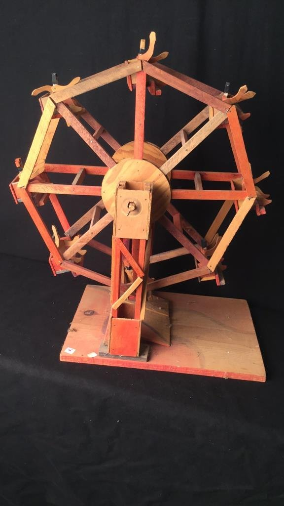 Rustic Wooden Antique Ferris wheel - 5