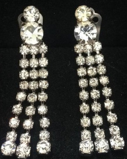Vintage Glamour Clip Earrings