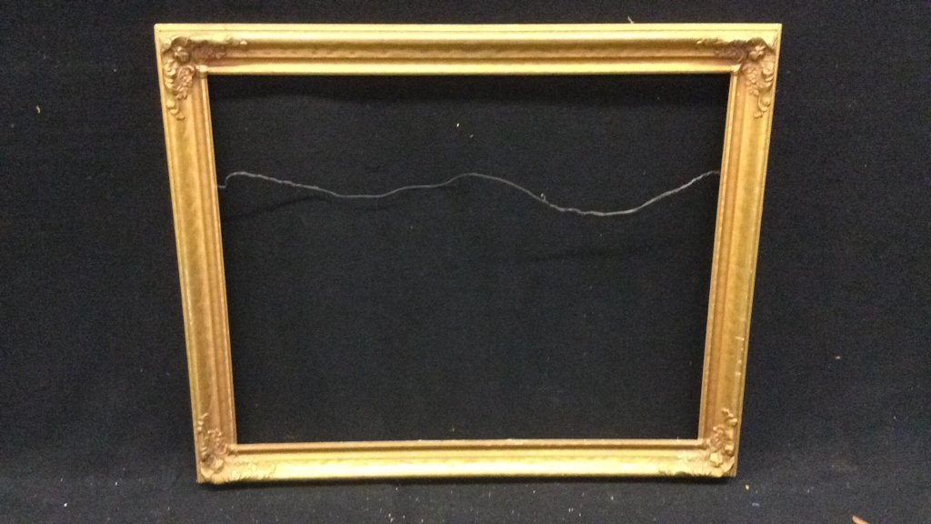 Antique Gold And Bronze Painted Wood Frame