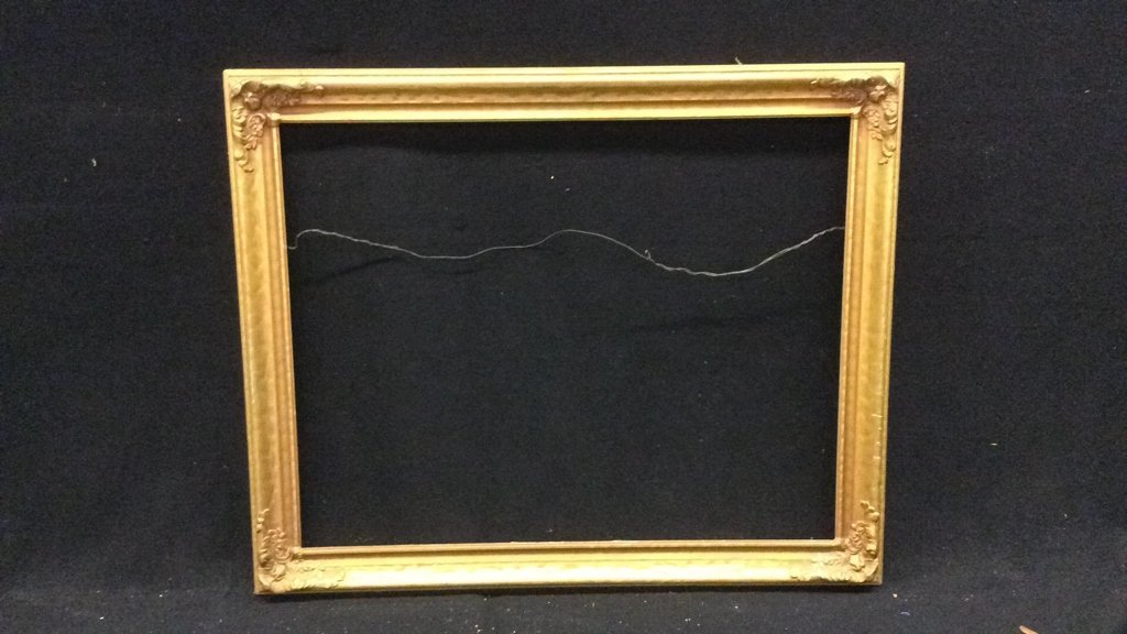 Antique Gold And Bronze Painted Wood Frame - 2