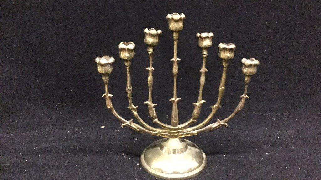 Brass Candelabra and Candlesticks - 3